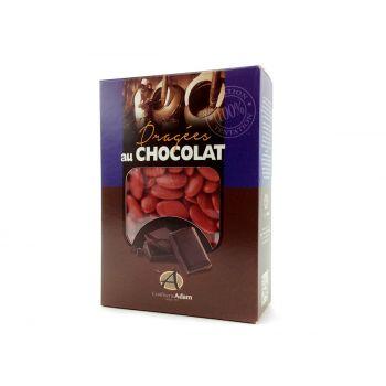 Dragées chocolat brillant rouge 1Kg