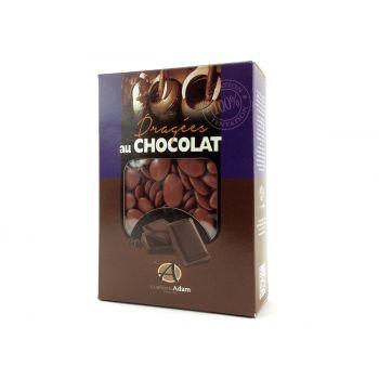 Dragées chocolat brillant feuille morte 1Kg