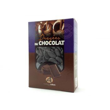 Dragées chocolat brillant gris 1Kg