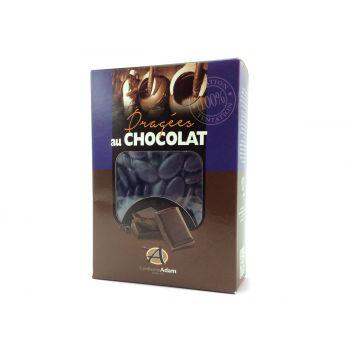 Dragées chocolat brillant aubergine 1Kg