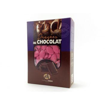 Dragées chocolat brillant rose pourpre 1Kg
