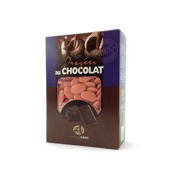Dragées chocolat brillant corail 1Kg
