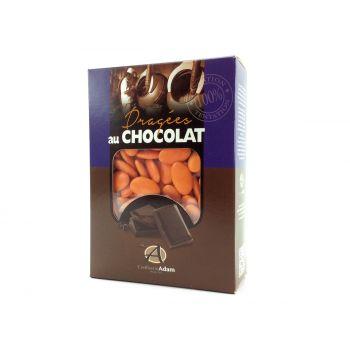 Dragées chocolat brillant orange 1Kg