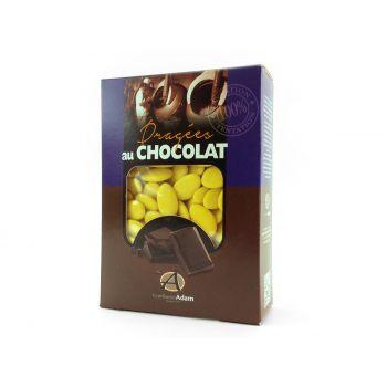 Dragées chocolat brillant bouton d'or 1Kg