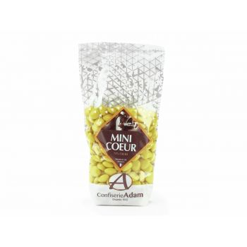 Dragées mini coeur chocolat brillant Bouton d'or 250gr