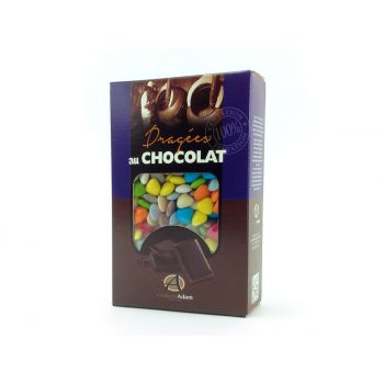 Dragées mini coeur chocolat brillant assortis 500gr