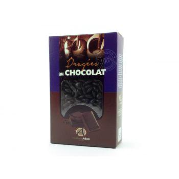 Dragées mini coeur chocolat brillant Noir 500gr