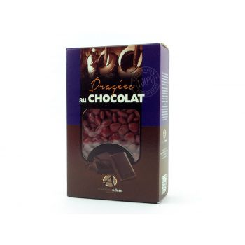 Dragées mini coeur chocolat brillant Bordeaux 500gr