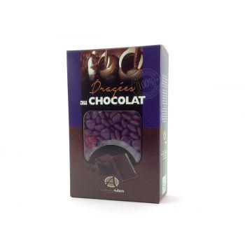 Dragées mini coeur chocolat brillant Violette 500gr