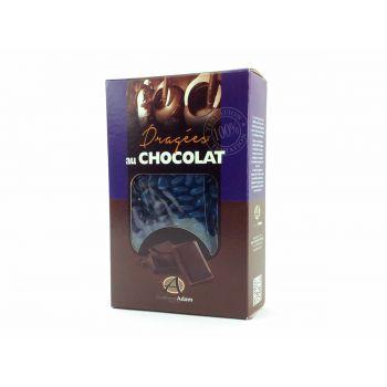 Dragées mini coeur chocolat brillant Marine 500gr
