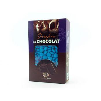 Dragées mini coeur chocolat brillant Turquoise 500gr