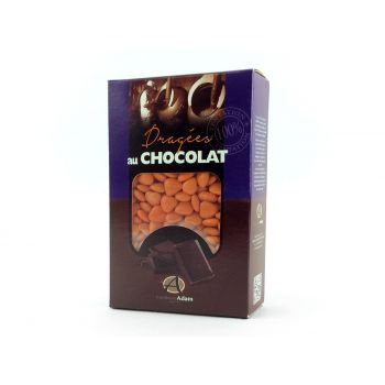 Dragées mini coeur chocolat brillant orange 500gr