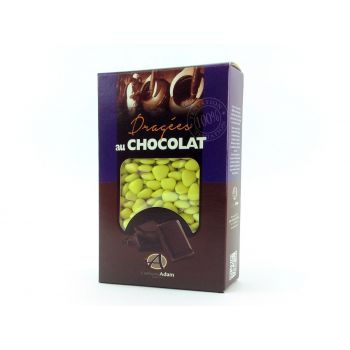 Dragées mini coeur chocolat brillant Vert lime 500gr