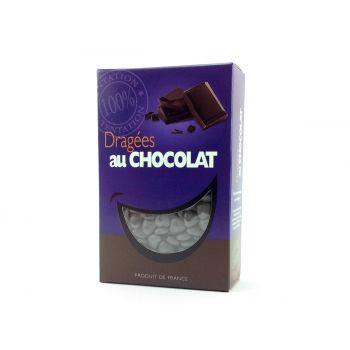 Dragées mini coeur chocolat brillant Gris 500gr