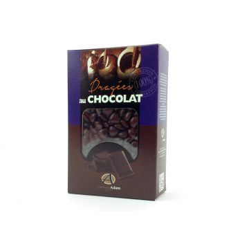 Dragées mini coeur chocolat brillant Chocolat 500gr
