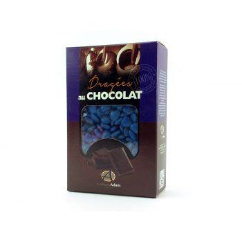 Dragées mini coeur chocolat brillant Bleu océan 500gr