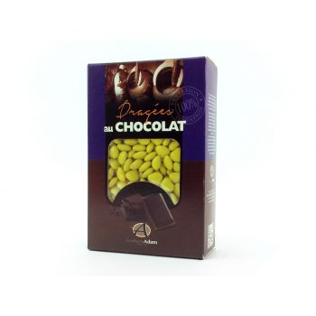 Dragées mini coeur chocolat brillant Bouton d'or 500gr