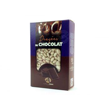 Dragées mini coeur chocolat brillant Ecru 500gr