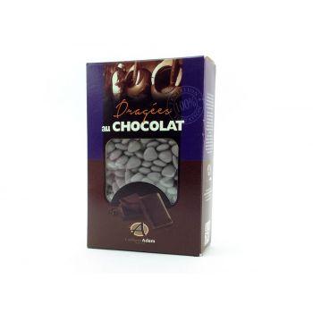 Dragées mini coeur chocolat brillant Gris lune 500gr