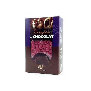 Dragées mini coeur chocolat brillant Framboise 500gr