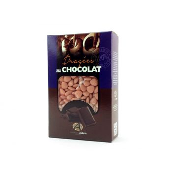 Dragées mini coeur chocolat brillant Corail 500gr
