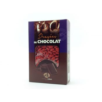 Dragées mini coeur chocolat brillant Rouge 500gr