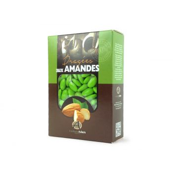Dragées amandes Alsace vert anis 1KG