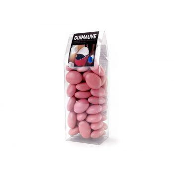 Dragées guimauve rose nacré tubos 150gr