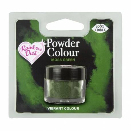 Colorant alimentaire 100% comestibles en poudre vert mousse de la marque Rainbow dust Le colorant en poudre sert à peindre sur tous vos...