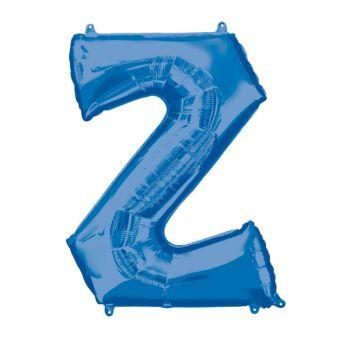 Mega Ballon Hélium lettre Z bleu