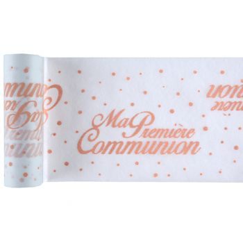 Chemin de table communion corail