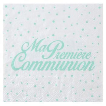 20 Serviettes communion mint