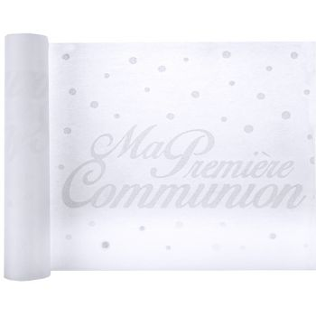 Chemin de table communion blanc