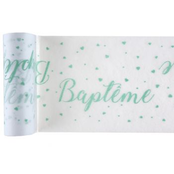 Chemin de table baptème mint