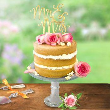 Cake topper PME décor Mrs & Mr script