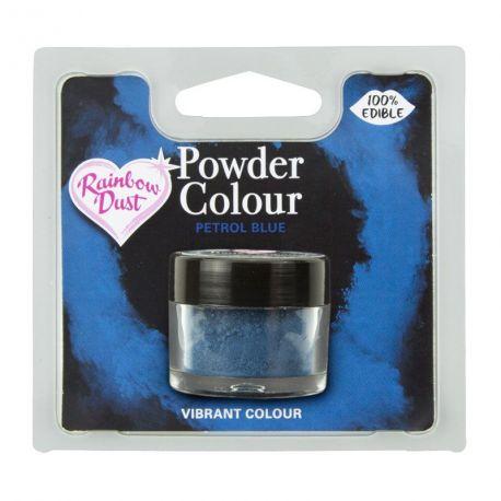 Colorant alimentaire 100% comestibles en poudre bleu pétrole de la marque Rainbow dustLe colorant en poudre sert à peindre sur tous...