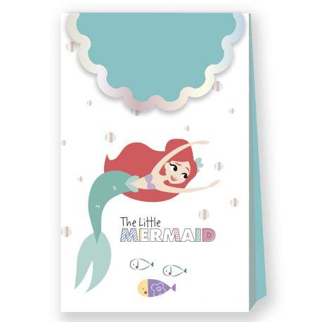 6 Pochettes cadeaux Ariel