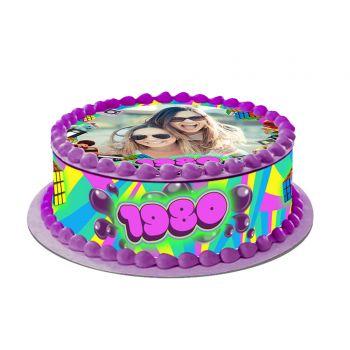 Kit Easycake pour gâteau personnalisé Années 80