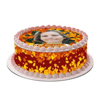 Kit deco azyme Easycake Automne à personnaliser pour deco de gâteau