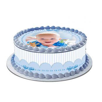 Kit Easycake pour gâteau personnalisé Baby Bleu