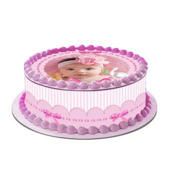 Kit Easycake pour gâteau personnalisé Baby Rose