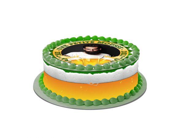 Kit deco azyme Easycake personnalisé décor Bière- Déco de gâteau