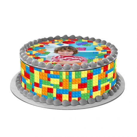 Kit décor en sucre pour réaliser un gâteau rond en 1 clin d'oeil ! Prévu pour un gâteau d'un diamètre de 20 cm soit 8 parts environ....