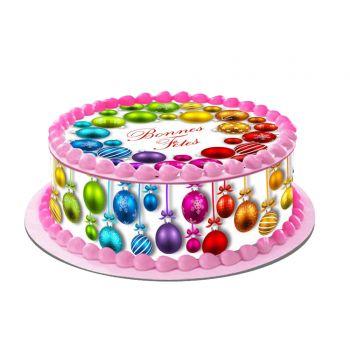Kit Easycake pour gâteau personnalisé Boules de Noël