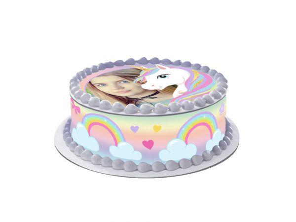 Kit deco azyme Easycake personnalisé décor Licorne- Déco de gâteau