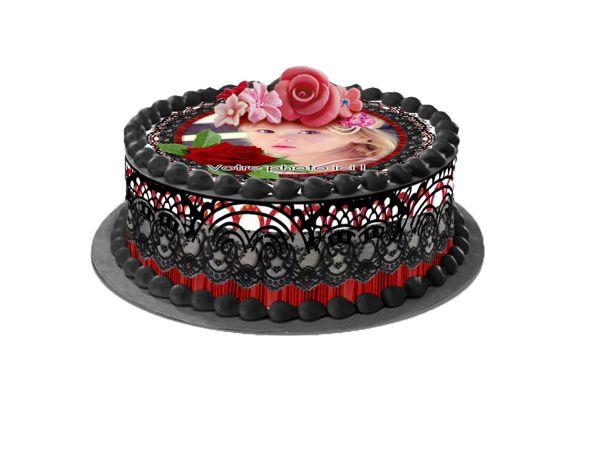 Kit deco azyme Easycake personnalisé décor Dentelle- Déco de gâteau