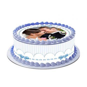 Kit Easycake pour gâteau personnalisé Colombe bleu