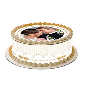 Kit Easycake pour gâteau personnalisé Colombe Or