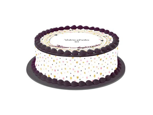 Kit deco azyme Easycake personnalisé décor Etoiles- Déco de gâteau