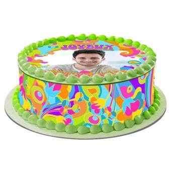 Kit Easycake pour gâteau personnalisé Flower Power